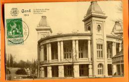 XBO-13  Gand, Le Palais Des Fêtes Exposition Universelle Internationale De GAnd 1913, Vignette Au Dos. Circulé En 1913 - Expositions