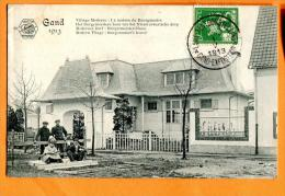 XBO-15  Gand, Entrée Vieille Flandre Exposition Universelle Internationale De Gand 1913, Animé. Cachet 1913,Vignette - Expositions