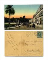 Napoli - Riviera Di Chiaia - Animata Carri Carrozze Tram - Viaggiata Verso Cavalcaselle 1914 - Napoli (Naples)