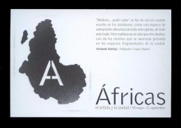*Akinbode Akinbiyi - Áfricas* Bcn 2001. Flyer Print. - Exposiciones