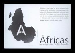 *Akinbode Akinbiyi - Áfricas* Expo *BarcelonaArt Report2001* Flyer Print. - Exposiciones