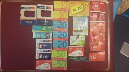 India-tickets India See Situation Bent Damaged-(25 Cards-damged)- Used - India
