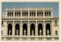 AZERBAIGIAN: BAKU:  LA FACCIATA DEL MUSEO NIZAMI     (NUOVA CON DESCRIZIONE DEL SITO SUL RETRO) - Azerbaigian