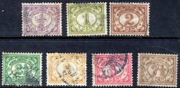 NETHERLANDS INDIES 1912 Numeral 7 Values Used - Indes Néerlandaises