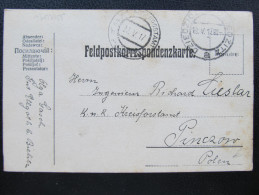 Korrespondenzkarte Dziedzice - Pinczow Etappenpostamt 1917 ///  D*16469 - Briefe U. Dokumente