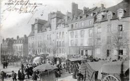 RENNES - Le Marché Place Des Lices, Très Animé     1903  -A1- - Rennes