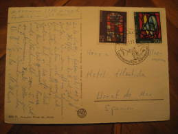 Saaner ? Gstaad 1972 To Lloret De Mar Spain Ski Skiing Cancel Post Card - Ski