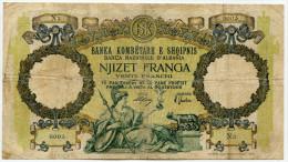 Albanie Albania 20 Franga 1939 / Franchi Italy  # 2 - Albanie