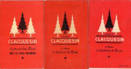 3 CALEPINS  DE BISTROT DE BAR DE CAFE CARNETS DE COMMANDE *Clacquesin *Sinkor - Autres Collections