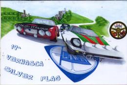 Italy Vernasca Sylver Flag Lancia Stratos Casttel'Arquato Annullo Filatelico - Rally