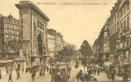 75 - PARIS (Xe) - Le Boulevard Et La Porte Saint-Denis - Transport Urbain En Surface