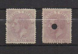 M009..-.SPAIN/ESPAÑA.1882.-.SC#:253 .-. MINT AND PERFORATE.-. - 1875-1882 Kingdom: Alphonse XII