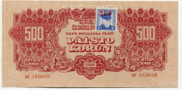 Tchécoslovaquie Czechoslovakia 500 Korun 1944 UNC With STAMP  SPECIMEN - Tchécoslovaquie