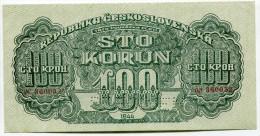 Tchécoslovaquie Czechoslovakia 100 Korun 1944 AUNC SPECIMEN # 2 - Tchécoslovaquie
