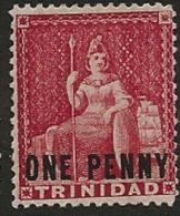 TRINIDAD 1882 1d Rose Britannia SG 101 HM OJ173 - Trinidad & Tobago (...-1961)