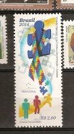 Brazil ** & Brasil 2015  Brasil & Merco-Sul, Luta Contra A Discriminação Autismo 2015 - Unused Stamps