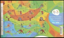 Brazil ** & Serie De Modalidades Jogos Paralímpicos Rio 2016 - Blocks & Sheetlets