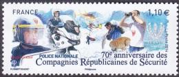 France Métier N° 4922 ** POLICE NATIONALE  70e Anniversaire Des Compagnies Républicaines De Sécurité - Policia – Guardia Civil