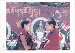 China - Two Lamas At Sera Monastery, Lhasa, Photo By Iwasa Manpei, Japan's Postcard - Tibet