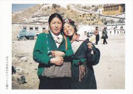 China - Tibetan Mother & Daughter In Font Of Potala Palace, Lhasa, Photo By Iwasa Manpei, Japan's Postcard - Tibet