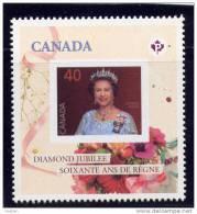 Canada. 2012,  # 2516,  QE 11, Diamond Jubilee, Single  #4 Of 6.MNH - 1952-.... Règne D'Elizabeth II