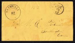 C1850 Envelope Nashville TN   Rated «Due 3» To Southington CT - …-1845 Vorphilatelie