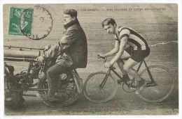 CPA SPORT CYCLISME DUSSOT ENTRAINE PAR FOSSIER NOS STAYERS ET LEUS ENTRAINEURS  Une Fente - Cyclisme