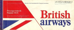 BRITISH AIRWAYS PASSENGER TICKET (LOS ANGELES - LONDON - BOMBAY - KARACHI)