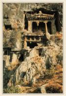 TURCHIA   FETHIYE:  TEMPIO  INTAGLIATO NELLA ROCCIA     (NUOVA CON DESCRIZIONE DEL SITO SUL RETRO) - Turchia