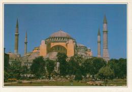 TURCHIA  ISTAMBUL: LA MOSCHEA DI S. SOFIA     (NUOVA CON DESCRIZIONE DEL SITO SUL RETRO) - Turchia