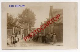ERCHIN-Soldats-Civils-Enfants-Carte Photo Allemande-Guerre14-18-1WK-Frankreich-France-59- - Autres Communes