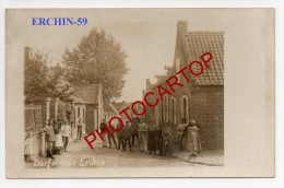 ERCHIN-Soldats-Civils-Enfants-Carte Photo Allemande-Guerre14-18-1WK-Frankreich-France-59- - Frankrijk