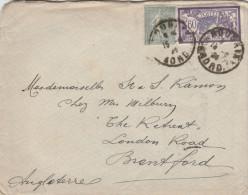 - Lettre De ROUBAIX à LONDON Avec Timbre Merson 60 C. - 020 - 1900-27 Merson