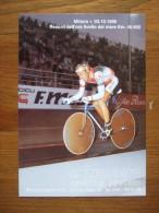 Bike F. Moser Record Mondiale Dell'ora Su Pista 03.10.1986 Carte Postale - Ciclismo