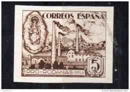Año 1937 - Epila ( Zaragoza ) - Pro Rodanas - ( De HB) 5 Cts - Sofima 3 Guerre Civile Espagne  ** Spain Civil War * - Fábricas Y Industrias