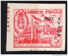 Año 1937 - Epila ( Zaragoza ) - Pro Rodanas - ( De HB) 5 Cts - Sofima 4 Guerre Civile Espagne  ** Spain Civil War * - Fábricas Y Industrias