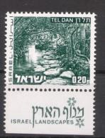 Israel - 1973, Michel/Philex No. : 598 With 1  Phosphorstripe Long  - MNH - *** - Full Tab - Israel