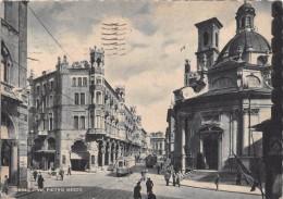 "01635 ""TORINO - VIA PIETRO MICCA"" ANIMATA, TRAMWAY. CART. ORIG.  SPEDITA 1943 - Churches"