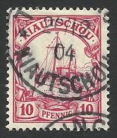 German Kiautschou, 10 Pf. 1901, Sc # 12, Mi # 7, Used. - Colony: Kiauchau