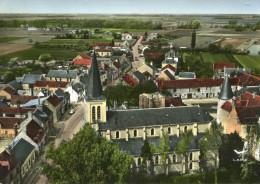 HUISSEAU SUR MAUVES - Vue Aérienne L'église Le Château Et Vue D'ensemble - Montargis
