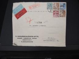 DANEMARK-Enveloppe En Recommandée  Et Expres  De Kebenhavn Pour Wien En 1941  Bande De Controle   P5727 - Covers & Documents