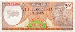 Surinam 500 Gulden 1982 Pick 129 UNC - Surinam