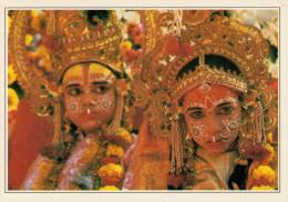 INDIA  BENARES:   EVOCAZIONE  DEL  RAMAYANA      (NUOVA CON DESCRIZIONE DEL SITO SUL RETRO) - India
