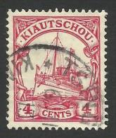 German Kiautschou, 4 C. 1909, Sc # 35, Mi # 30, Used. - Colony: Kiauchau