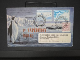ANTARCTIQUE- Enveloppe De La 4eme Expédition Belge De 1960/62 ( Signature Présente)  P5730 - Briefmarken