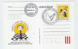 Hungary CHESS FDC POSTCARD 1994 - Francobolli