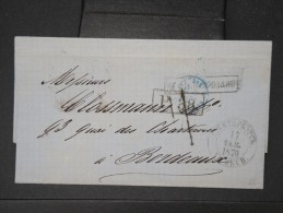 RUSSIE- Lettre (avec Texte) De St Petersbourg Pour Bordeaux En 1870   à Voir   P5736 - Briefe U. Dokumente