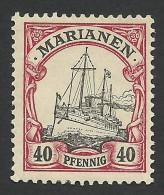 German Marianen, 40 Pf. 1901, Sc # 23, Mi # 13, MH. - Colony: Mariana Islands