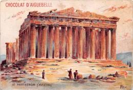 "01650 ""CHOCOLATERIE D'AIGUEBELLE - LE PANTHEON - ATHENES""  ETICHETTA ORIGINALE  - ORGINAL LABEL - Cioccolato"