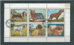 SHARJAH (ARABIE) 1972 BLOC FEUILLET CHIENS/DOGS 0/USED - Arabie Saoudite